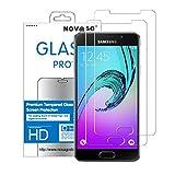 Novago Compatible avec Samsung A5 2016 - Pack de 2Films Protection écran en Verre trempé...