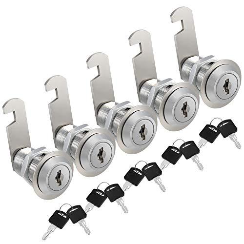 Kohree Cerradura para Buzón 30mm 5 pcs Cerradura Cilindro Con 10 Llaves, Cerradura para Taquilla, Cerradura para Cajón, Cerradura para Muebles, cerraduras de cilindro de armario, cilindro Cam