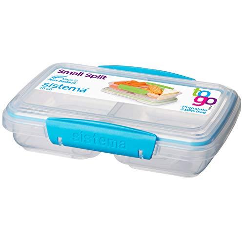 Sistema Lunchbox / Butterbrotdose, in 2 Sektionen unterteilt, 350 ml ,farblich sortiert