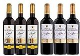 Colección de 6 botellas de vino tinto crianza - Crianzas de Autor - 3 botellas de DEYO Merlot - 3 botellas de Tempranillo Los Altos - Vinos tintos con 14 meses de crianza en barricas de roble