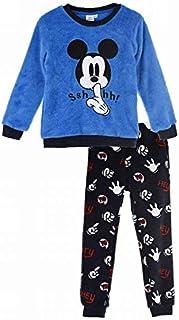 Pijama Largo coralina Azul Mickey Mouse Disney 4 años 100% Poliester