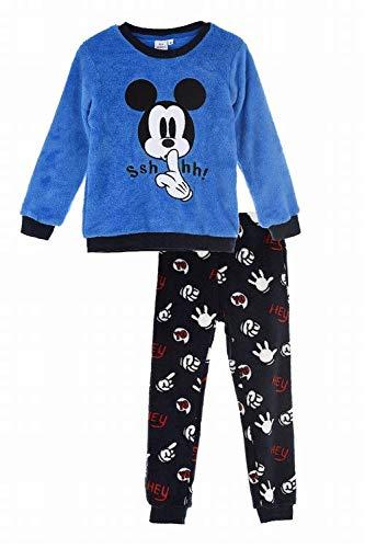 Pijama Largo coralina Azul Mickey Mouse Disney 6 años 100% Poliester