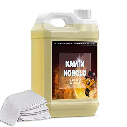 KAMINKOBOLD - Kaminreiniger 5 Liter Rußentferner Kaminscheibe Kamin Ofen Scheibe Reiniger Glas Hochkonzentriert I Glasreiniger kamin I kamin glas reiniger I Kaminentrußer
