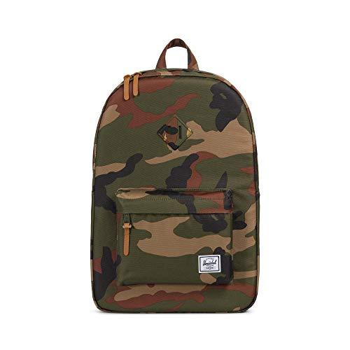 Herschel Unisex-Erwachsene Heritage Rucksack, Woodlang/Camouflage, Einheitsgröße