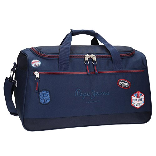 Pepe Jeans Kensington Bolsa de Viaje, 52 cm, 43.73 Litros, Azul