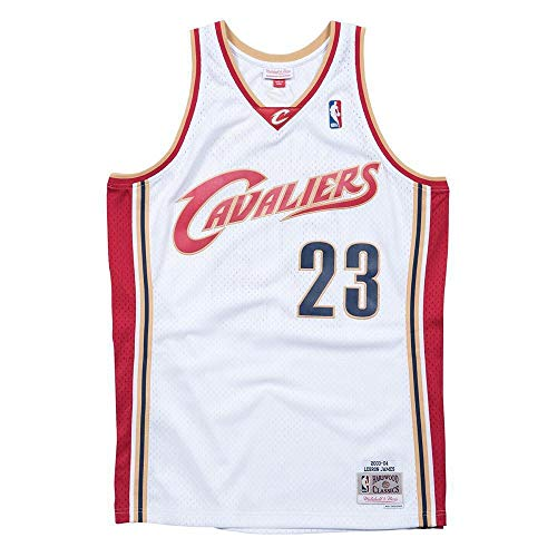 Mitchell & Ness LeBron James #23 Cleveland Cavaliers 2003-04 Swingman NBA Trikot Weiß, XL