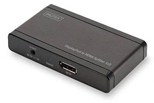 Digitus DS-45400 DisplayPort-auf-HDMI Verteiler (1x DP Eingang, 2X HDMI Ausgang, unterstützt 4K Ultra HD)
