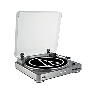 Audio-Technica AT-LP60-USB Fully Automatic Belt-Drive Stereo Turntable (USB & Analog), Silver (B002GYTPB8)   Amazon price tracker / tracking, Amazon price history charts, Amazon price watches, Amazon price drop alerts