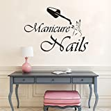 Manicura nail logo calcomanías de vinilo de pared para salón de uñas nail polish studio shop extraíble ventana de vinilo decoración de la pared del hogar pegatinas A6 42x29cm