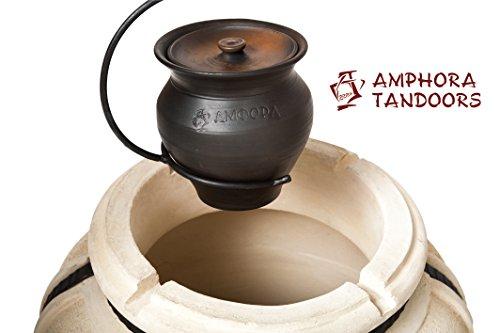 Amphora Tandoor oven Keramik-Topf Kazan 2 l mit Deckel und Bügelhalter Bräter Tandoor Тандыр Tandoori Tandir Tanur Tandyr Tandur Grill Feinschmecker Ofen BBQ Barbecue Mangal