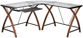 Best l shaped desk with pull out keyboard Reviews