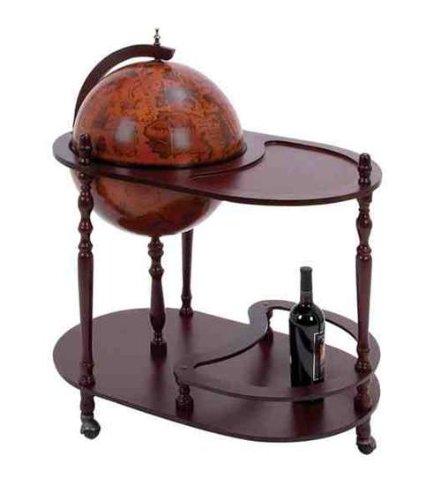 Classy Wood Globe Bar Trolley