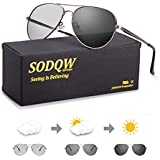 SODQW Mens Polarized Photochromatic Sunglasses,...