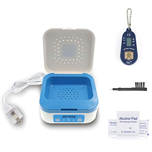 Hearing Aid Dryer Dehumidifier Electronic Automatic Drying System with Battery Tester