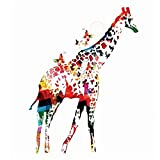 N / A Watercolor Giraffe Geometric Butterfly Canvas Painting Wall Poster Picture Living Room...