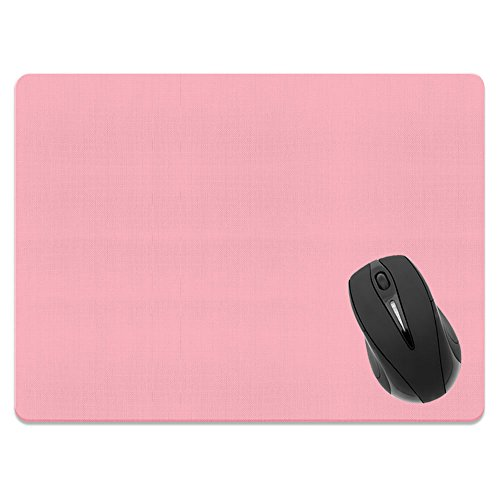 Extra Large (X-Large) Size Non-Slip Rectangle Mousepad, FINCIBO Solid Light Pink Mouse Pad for Home, Office and Gaming Desk