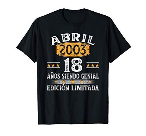 Nacido En Abril 2003 Regalo Hombre 18 Años Cumpleaños Mujer Camiseta