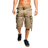 Geographical Norway People - Pantalón corto para hombre Mastic. XXL