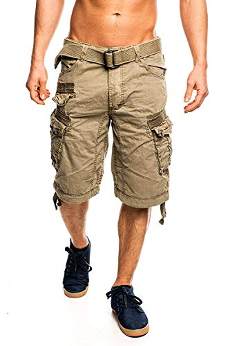 6G3 Geographical Norway People Herren Bermuda Shorts Kurze Hose Mastic XL