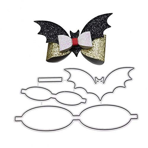 YAOKAIDAN Arcos de Bowknot en Forma de murciélago Troqueles de Corte de Metal Plantillas Bricolaje Sellos de Scrapbooking Tarjeta de felicitación de Navidad Decoración Carpetas de grabación en re