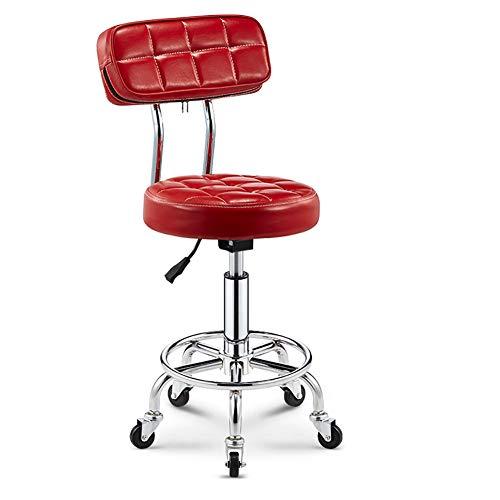 MG-GRD Silla giratoria Taburete de Oficina Salón de Belleza Taburete Taburete médico Taburete Ajustable, Altura Ajustable, Rueda, rotación de 360 Grados,Red