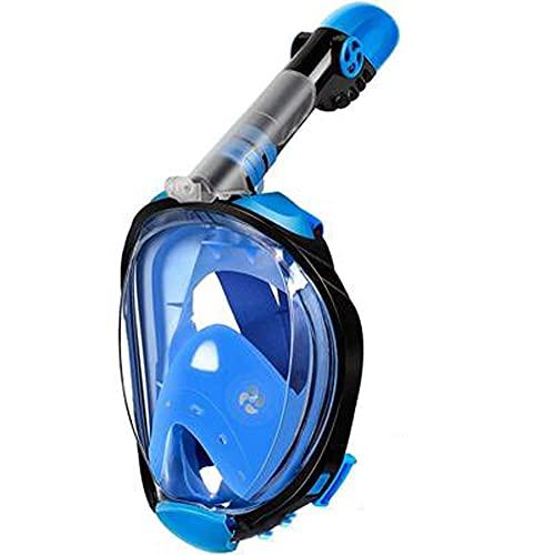 Goggles Mascara Buceo Máscara de Buceo con máscara de Snorkel panorámico Anti-Niebla Anti-Niebla para Buceo de Buceo (Color : Blue, Size : S/M)