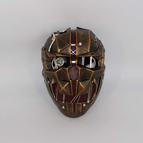 Wsjdmm Weihnachtsgeschenk Halloween Maskerade Requisiten Unfug Requisiten Kopfbedeckungen Kopfbedeckungen Lustige Maske Schammaske COS Demütigung 2 Corvo Maske Halloween Horrorfilm spielt die Kettensä