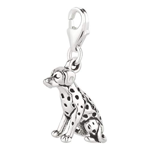 7K Charm Colgante perro dálmata 3 de plata de ley 925