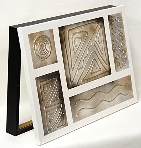 Cuadroexpres - Tapa de Contador Pintada 30x45x4 cm (Interior) Caja Decorativa para Cuadro Eléctrico. En Melamina Negra. Cierre de imán y Tornillos para Fijar en la Pared.