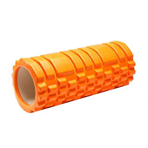 LAKUYO フォームローラー グリッドフォームローラー ストレッチローラー ヨガポール トレーニング ストレッチポール オレンジ