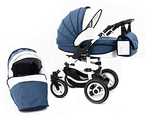Tabbi ECO LN   2 in 1 Kombi Kinderwagen   Luftreifen   Farbe: Blue