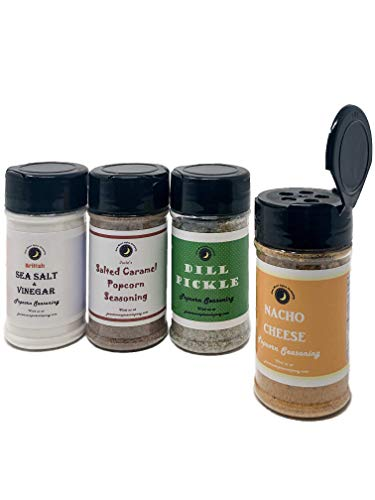 Fantastic Deal! Premium | POPCORN SEASONING Vareity 4 Pack | Sea Salt & Vinegar | Dill PIckle | Nach...