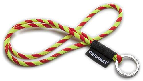 Original Lanyards® Leis GSTS stylisches Schlüsselband, Schlüsselanhänger, Lanyard in 10 Farben erhältlich (Made In Portugal) Neon Gelb/Rot