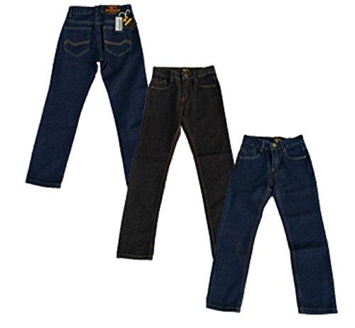 Designerskie chłopięce dżinsy regulowane spodnie w talii czarny niebieski denim pranie wiek 2 3 4 5 6 7 8 9 10 11 12 13 14 15 16 lat Justfound4You