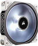 Corsair ML120 Pro LED PC-Gehäuselüfter (120 mm, mit Premium Magnetschwebetechnik, weiss LED, Single Pack) Schwarz/Weiß