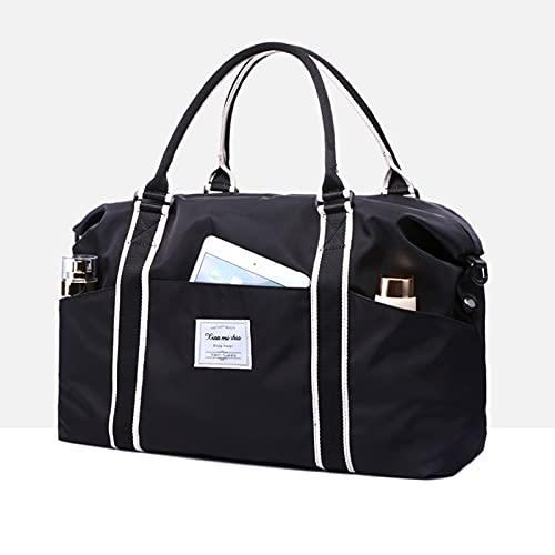 ZJM Fitnesstasche Reisetasche,Gym Bag,Duffel Bag,Weekender Trainingstasche,Travel Bag,für Fitness Gym Urlaub,Wasserabweisende,Superleichte Reisetasche