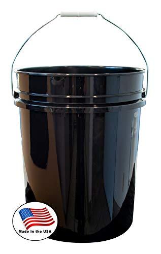 Argee RG5500BK/10 Plastic Bucket, 5 gallon, Black, 10 Count