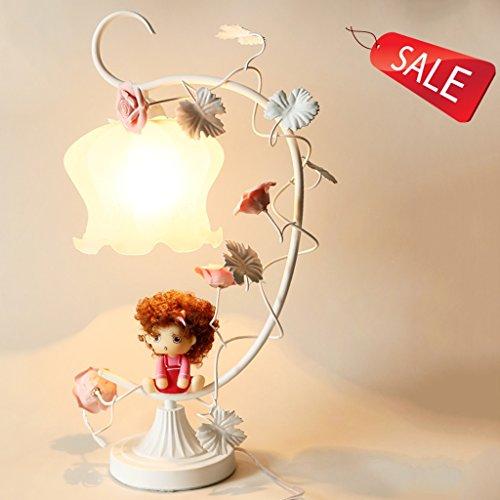 Lampe en fer forgé chaud et romantique jardin de roses de style princesse chambre fraîche et belle lampe de chevet créative E27