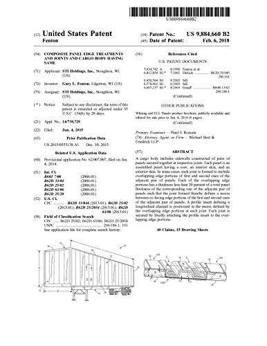 Composite panel edge treatments and joints and cargo body having same: United States Patent 9884660 (English Edition)