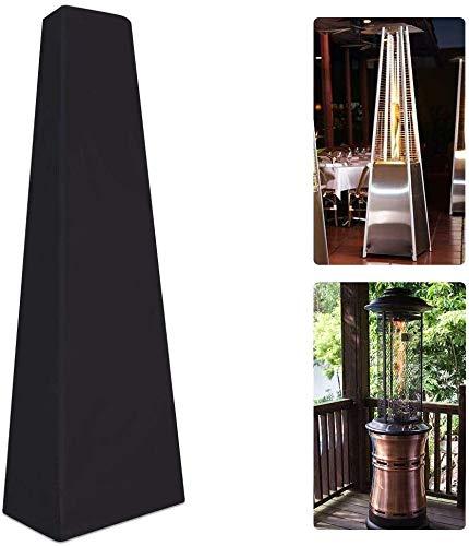 QEES Cubierta para calentador de patio 2,2 m, resistente al agua, cubierta para terrazas pirámide de patio, triángulo de gas alto JJZ23 (1 # negro)
