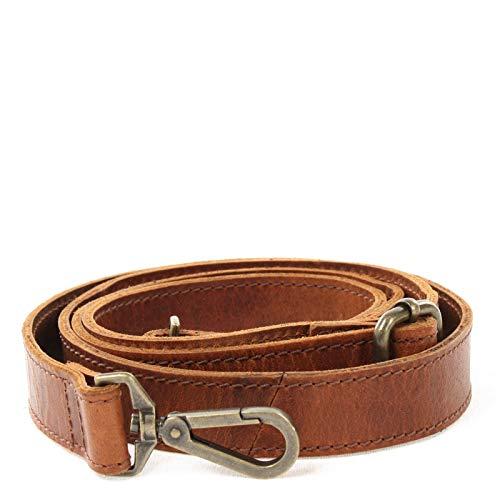 LECONI Trageriemen Schulterriemen längenverstellbarer Trage-Gurt für Damentaschen und Herrentaschen Leder 150cm 2,5x150cm braun LEC-R7