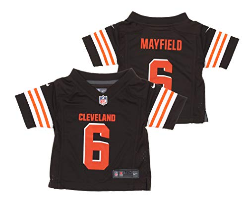 Nike NFL Cleveland Browns Baker Mayfield Infant 12-24 Months Team Jersey, Brown (24 Months)