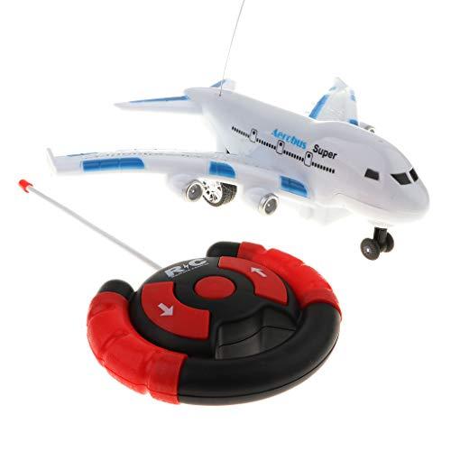 FLAMEER Mini Plastik Ferngesteuert Passagierflugzeug RC Flugzeug Kindspielzeug