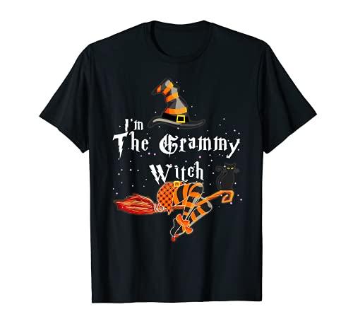 Disfraz de grupo de Halloween con texto en ingls 'I'm the Grammy Witch' Camiseta