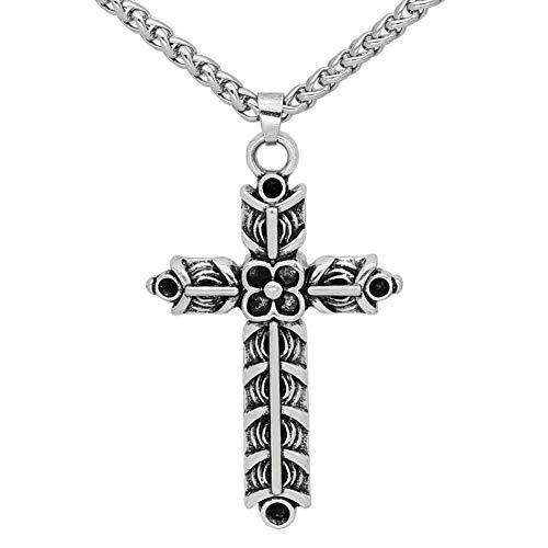 GuoShuang Nordic Viking Athelstan Cruz Ragnar Amuleto Collar – Doble Cara