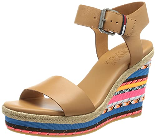 Tommy Jeans Colored Laces High Wedge, Sandalias Planas Mujer, Luna 29a2, 41 EU