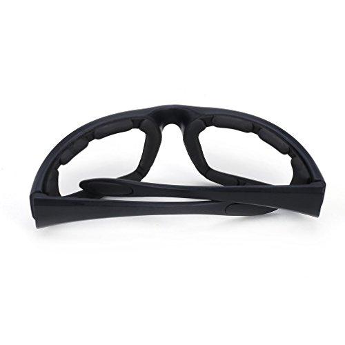 Motorradbrille Schutzbrille Fahrradbrille Radsportbrille Skibrille mit UV400 Outdoor Schutz für Damen und Herren Sonnenüberbrille Autofahren Laufen Radfahren Angeln transparent By Yxaomit - 5