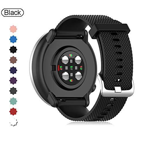 Buwico Armband Kompatibel mit Polar Ignite Watch, Ersatz Silikon Uhrenarmbänder Handgelenk Armbänder Fitness Uhrband Sport Uhr Wechselarmbänder für Polar Ignite Smartwatch (Schwarz, Small)