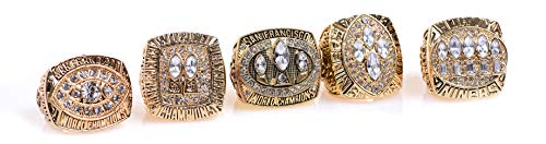 San Francisco 49ers Gold Championship Rings Full Set Replica Gift Collection Size 11 with Display Case