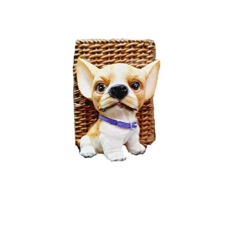 GeekGoodies Dog Pen Holder Resin Pencil Cup Stationery Supplies